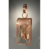 Adams 2 Light 24 inch Antique Copper Outdoor Wall Lantern in Clear Glass, No Chimney, Candelabra